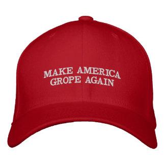 アメリカを再度模索させます: アンチ切札の帽子 刺繍入りキャップ
