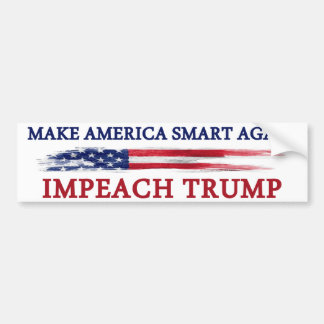 アメリカを切札を弾劾すること頭が切れるに再度させて下さい バンパーステッカー