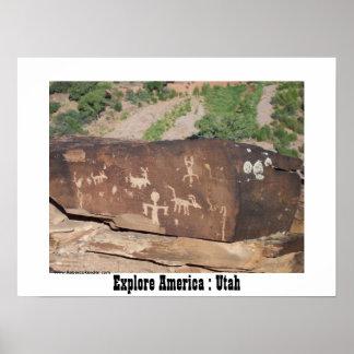 アメリカを探検して下さい: ユタ ポスター