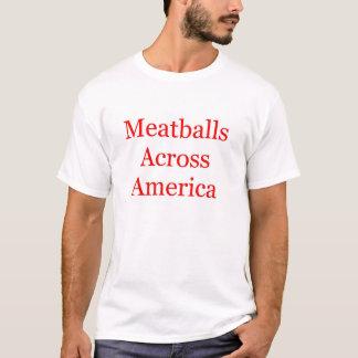アメリカを渡るミートボール Tシャツ