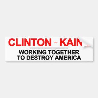 アメリカを破壊するクリントンKaine バンパーステッカー