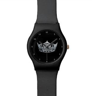 アメリカを銀製の王冠の黒が第28腕時計よろしいです恋しく思って下さい 腕時計