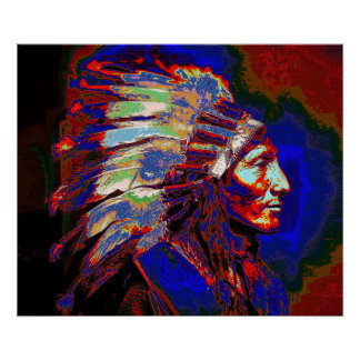 アメリカインディアンの主なグラフィック ポスター