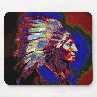 アメリカインディアンの主なグラフィック マウスパッド