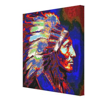アメリカインディアンの責任者 キャンバスプリント
