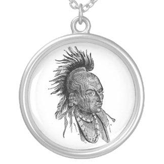 アメリカインディアン シルバープレートネックレス
