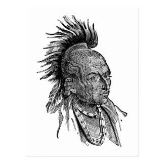 アメリカインディアン ポストカード