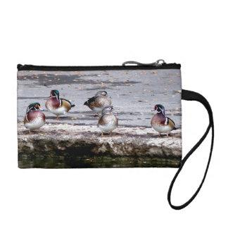 アメリカオシの鳥の野性生物動物の池のバッグ コインパース