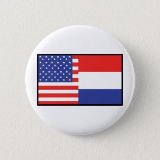アメリカオランダ 5.7CM 丸型バッジ