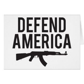 アメリカカラシニコフ自動小銃を守って下さい カード