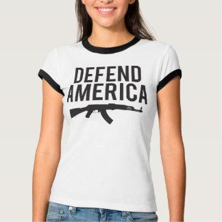 アメリカカラシニコフ自動小銃を守って下さい Tシャツ