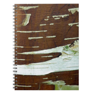 アメリカシラカンバの自然な樹皮 ノートブック