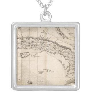 アメリカシート14の大英帝国の地図 シルバープレートネックレス
