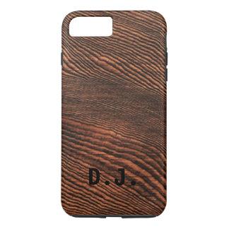アメリカツガの木製の穀物のiPhone 7のプラスの場合の*Monogram* iPhone 8 Plus/7 Plusケース