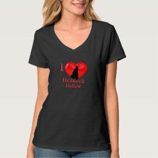 アメリカツガの空のTシャツ2 (背部芸術無し)のオオカミ Tシャツ