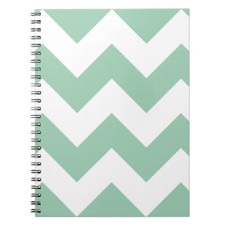 アメリカツガの緑のシェブロンのジグザグ形のメモ帳 ノートブック
