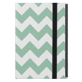 アメリカツガの緑のシェブロンのジグザグ形 iPad MINI ケース