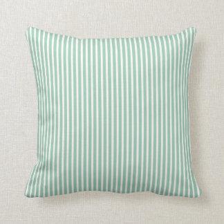 アメリカツガの緑のストライプのな枕 クッション