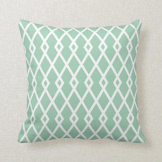 アメリカツガの緑のダイヤモンドの格子垣の枕 クッション