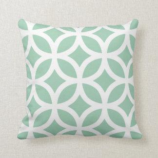 アメリカツガの緑のモダンで幾何学的な枕 クッション