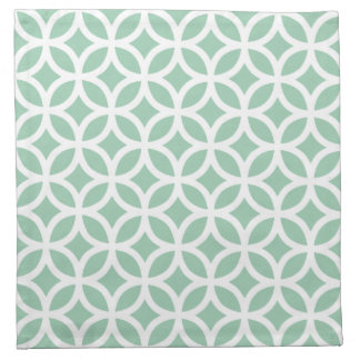 アメリカツガの緑の幾何学的な布のナプキン ナプキンクロス