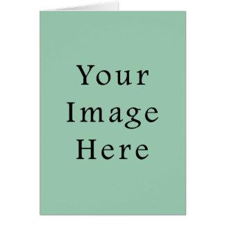 アメリカツガ薄緑の色の傾向のブランクのテンプレート カード