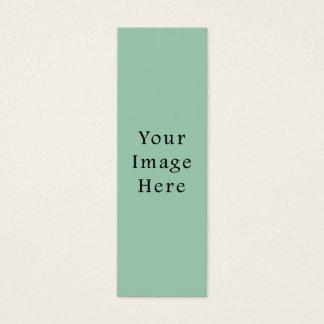 アメリカツガ薄緑の色の傾向のブランクのテンプレート スキニー名刺