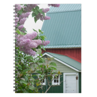 アメリカノートの家屋敷の農場の田園赤い納屋 ノートブック
