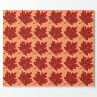 アメリカハナノキの葉 ラッピングペーパー