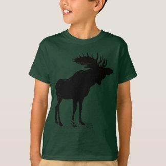 アメリカヘラジカのシルエット Tシャツ
