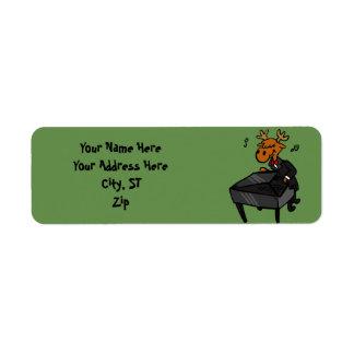 アメリカヘラジカのピアニスト ラベル