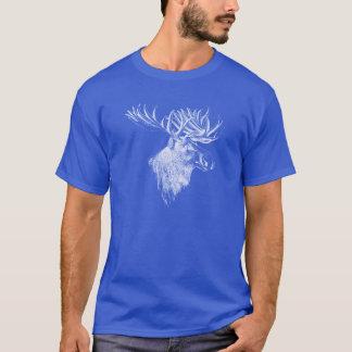 アメリカヘラジカのヘッドスケッチ Tシャツ