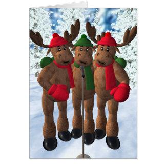 アメリカヘラジカの兄弟: クリスマスキャロル カード
