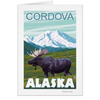 アメリカヘラジカ場面- Cordova、アラスカ カード