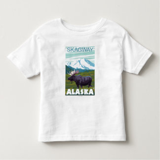 アメリカヘラジカ場面- Skagway、アラスカ トドラーTシャツ