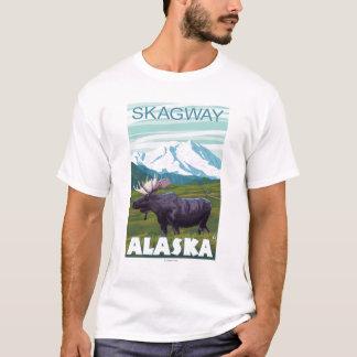 アメリカヘラジカ場面- Skagway、アラスカ Tシャツ