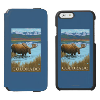 アメリカヘラジカDrinkingColorado Incipio Watson™ iPhone 6 財布ケース