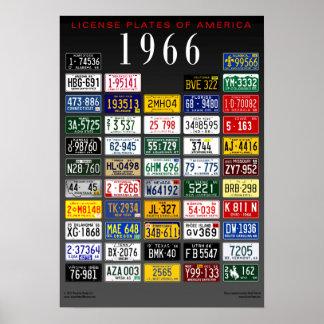 アメリカポスター- 1966年のナンバープレート ポスター