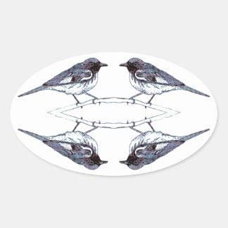 アメリカムシクイ 楕円形シール