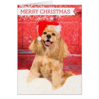 アメリカン・コッカー・スパニエルのクリスマスカード カード