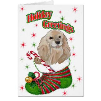 アメリカン・コッカー・スパニエルのクリスマス カード