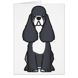 アメリカン・コッカー・スパニエル犬の漫画の挨拶状 カード