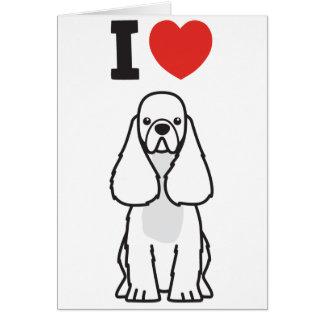 アメリカン・コッカー・スパニエル犬の漫画 カード