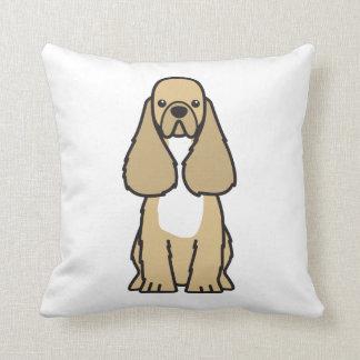 アメリカン・コッカー・スパニエル犬の漫画 クッション