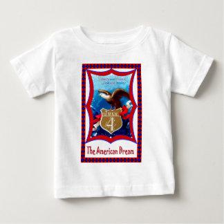 アメリカン・ドリームの白頭鷲 ベビーTシャツ