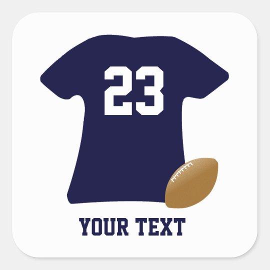 アメリカン・フットボールのステッカーが付いているあなたのフットボールのワイシャツ 正方形シール