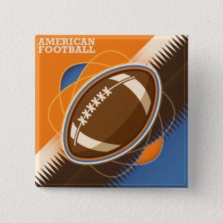 アメリカン・フットボールのスポーツの状況 5.1CM 正方形バッジ