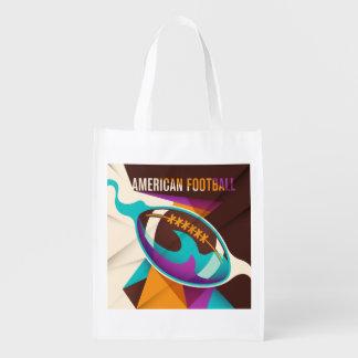 アメリカン・フットボールのスポーツの球の抽象芸術 エコバッグ