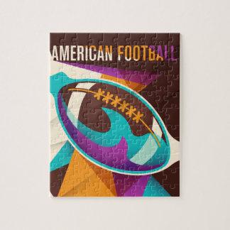 アメリカン・フットボールのスポーツの球の抽象芸術 ジグソーパズル