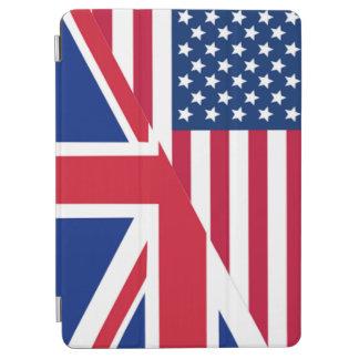 アメリカ人および英国国旗の旗のiPad Airカバー iPad Air カバー